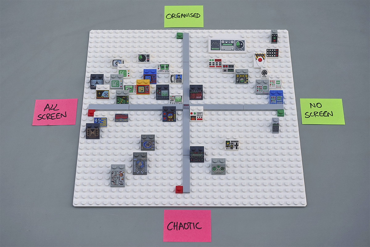 Design positioning with LEGO, in LEGO